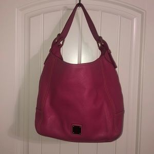 Bubblegum pebble grain hobo Dooney & Bourke